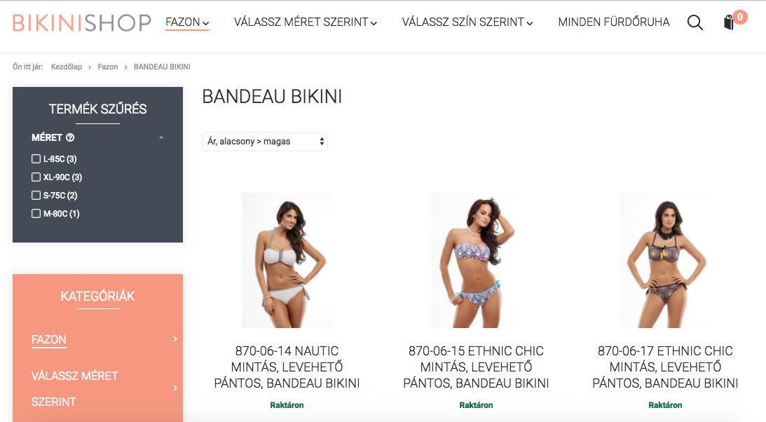 b8560daeb9a7 Webshopok, ahonnan pár kattintással beszerezheted CARIB bikinidet